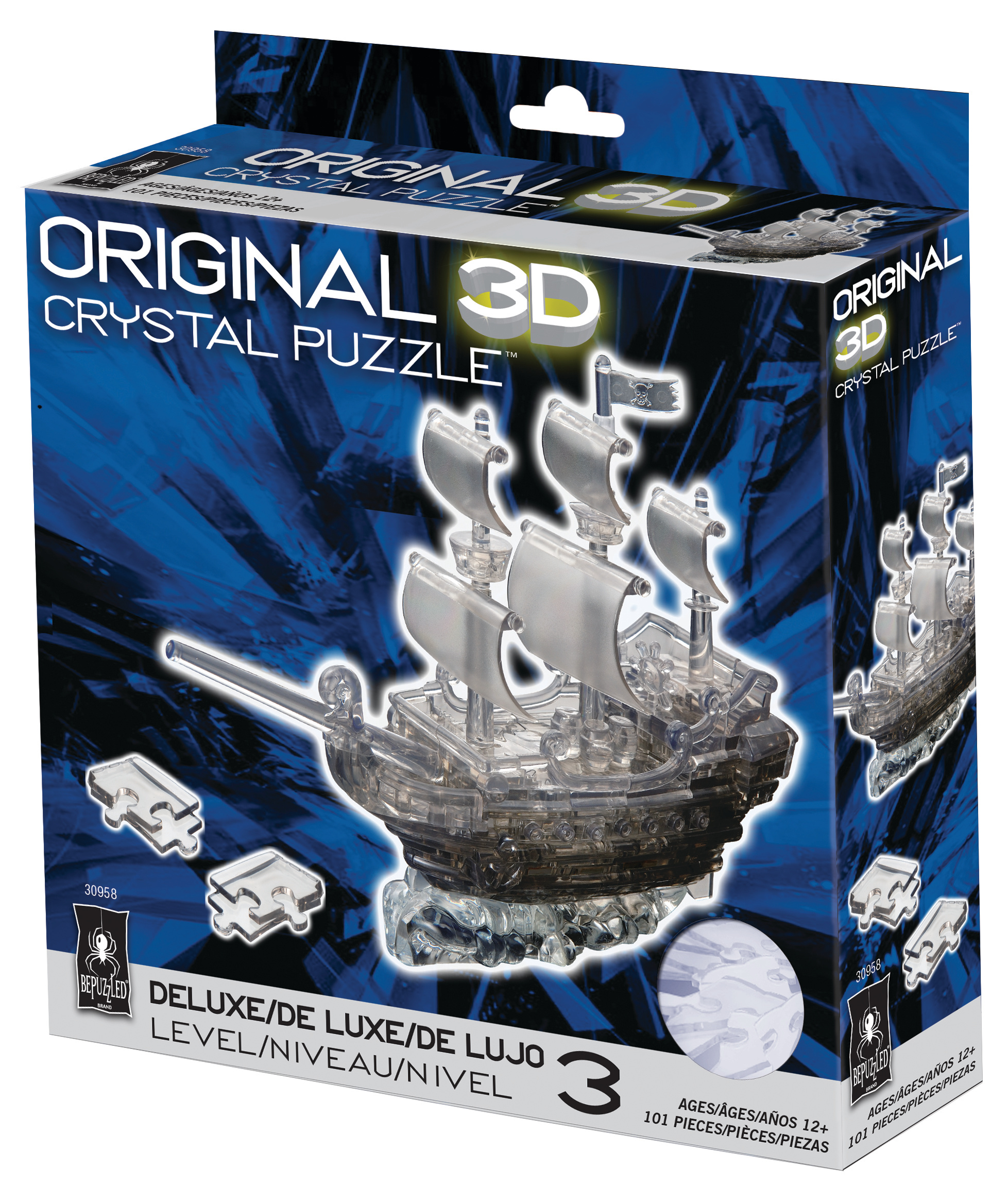 original 3d crystal puzzle pirate ship instructions