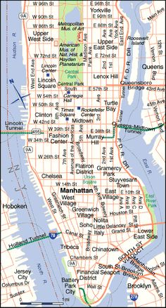Manhattan map with streets and avenues pdf