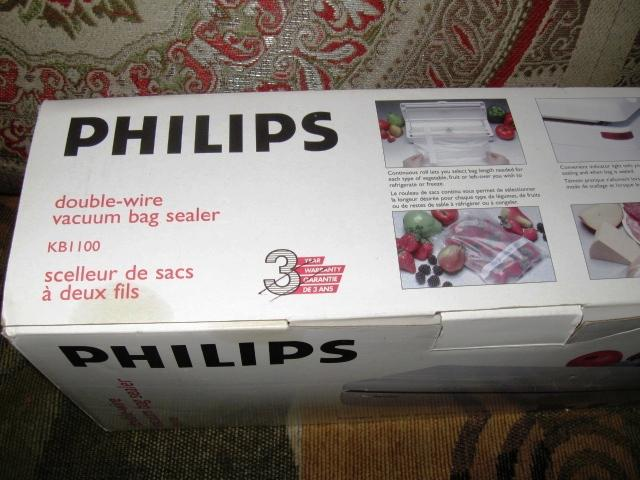 philips vacuum bag sealer instructions