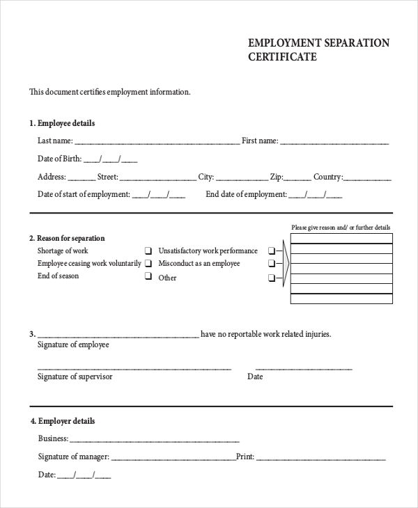 Centrelink employment separation certificate pdf