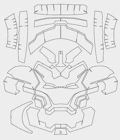 Iron man mask papercraft pdf