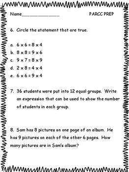 3rd grade math practice test pdf