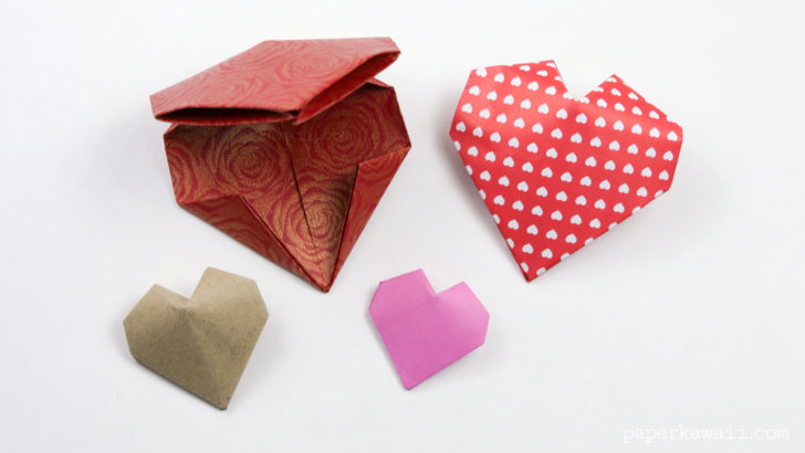 origami 3d heart instructions step by step