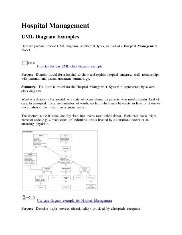 Uml diagrams for hospital management system pdf