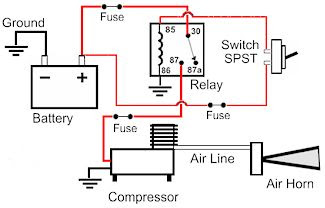 hadley air horn installation instructions