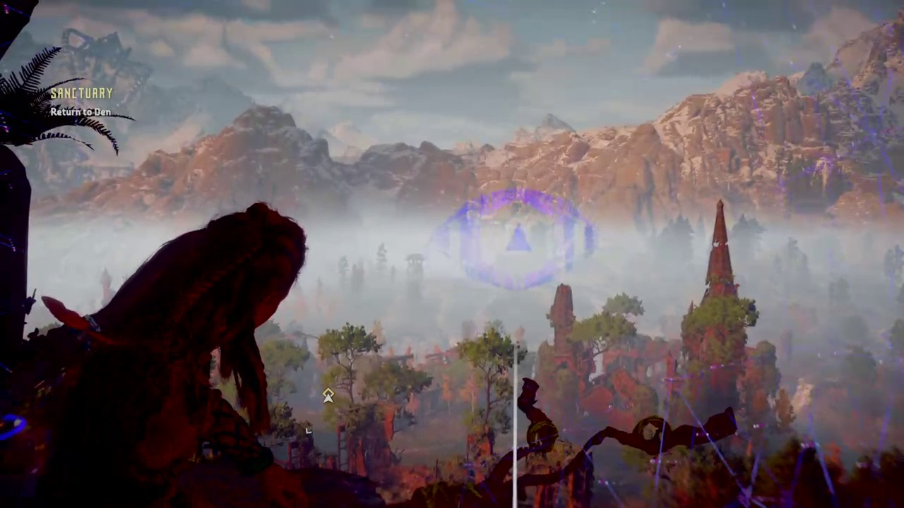 Horizon zero dawn how to get up to vantage point