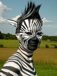zebra face paint instructions