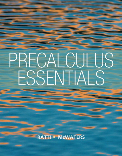 Precalculus essentials by j ratti and mcwaters pearson education pdf