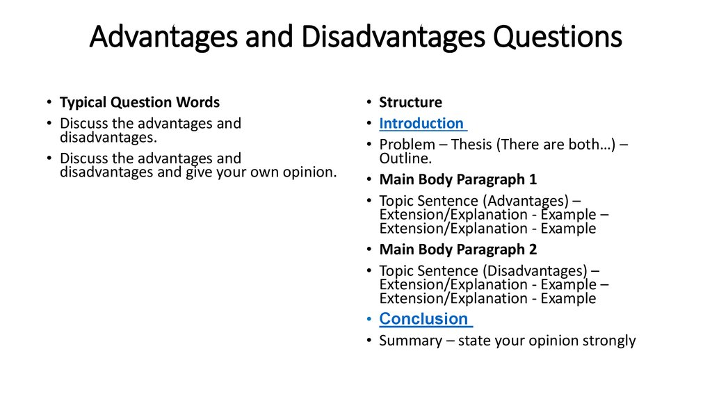 Advantages and disadvantages of guided writing