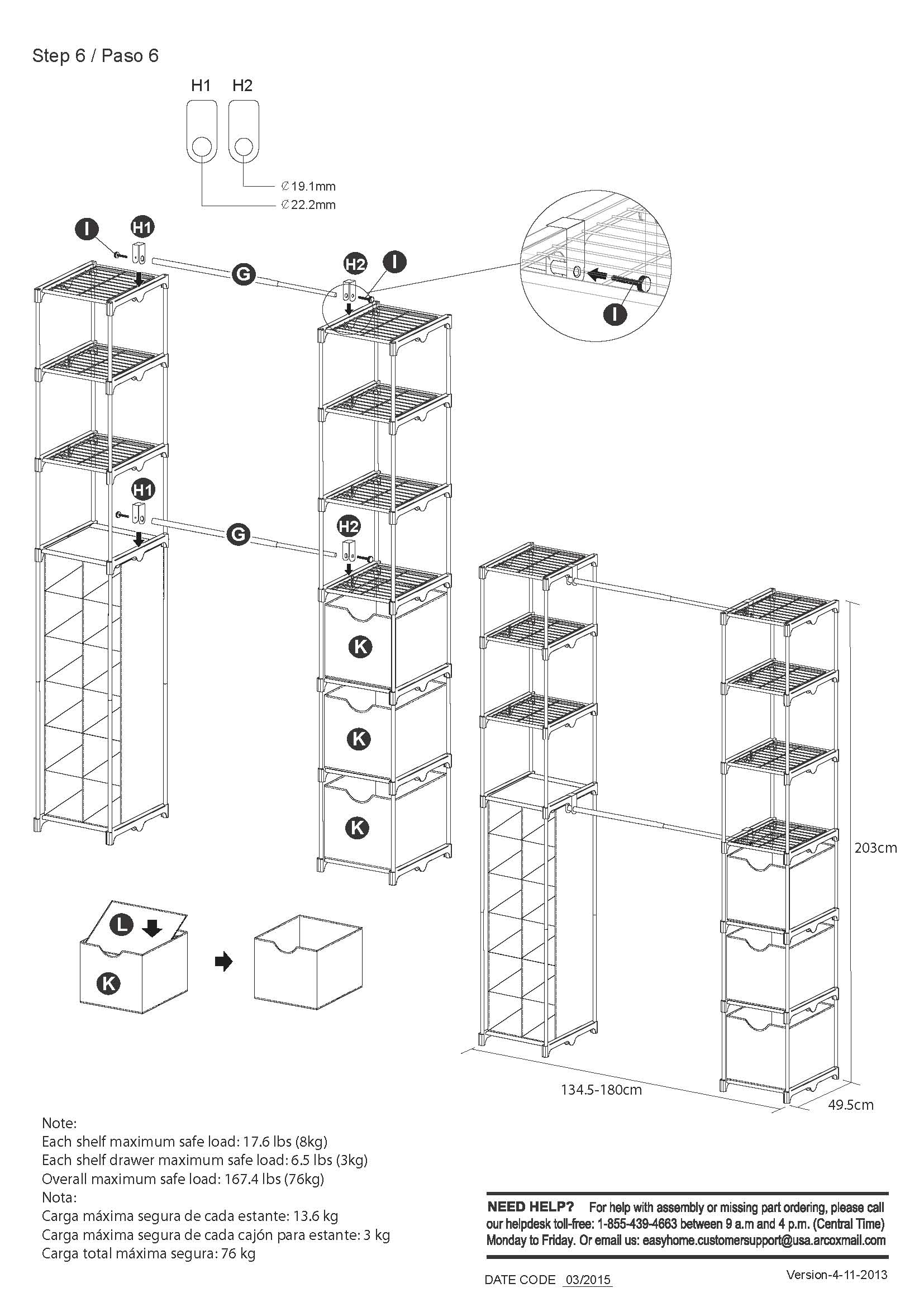mainstays 4 tier customizable shoe rack instructions