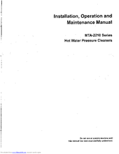 aaladin pressure washer owners manual