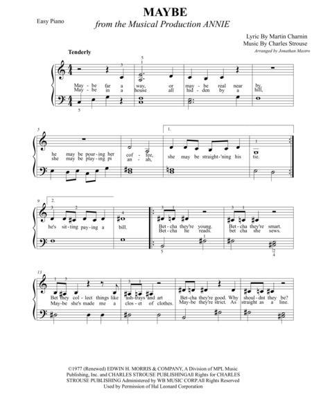 Annie piano sheet music pdf