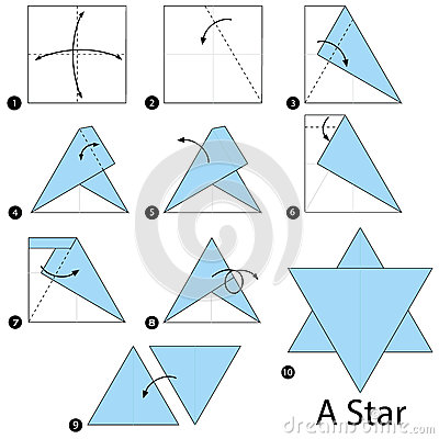 Origami star instructions step by step