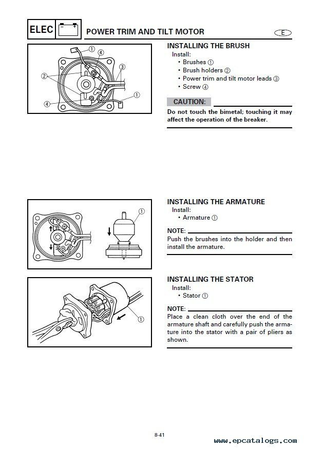 yamaha ca 800 service manual