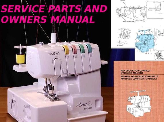 brother serger 1034d repair manual