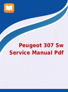 service manual peugeot 307 pdf