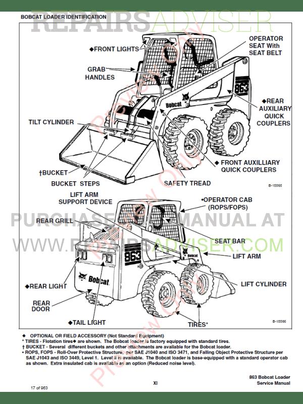 bobcat 863 service manual download