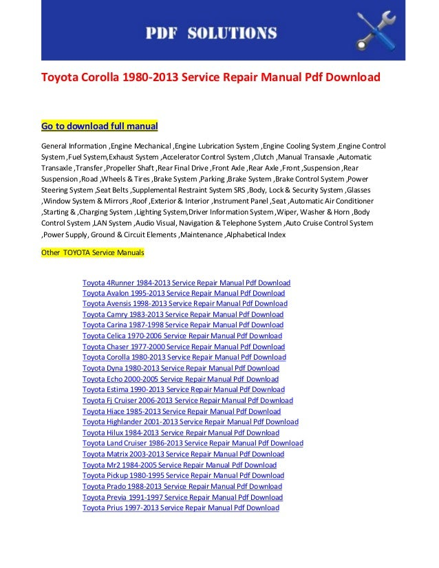 small engine repair manual free download