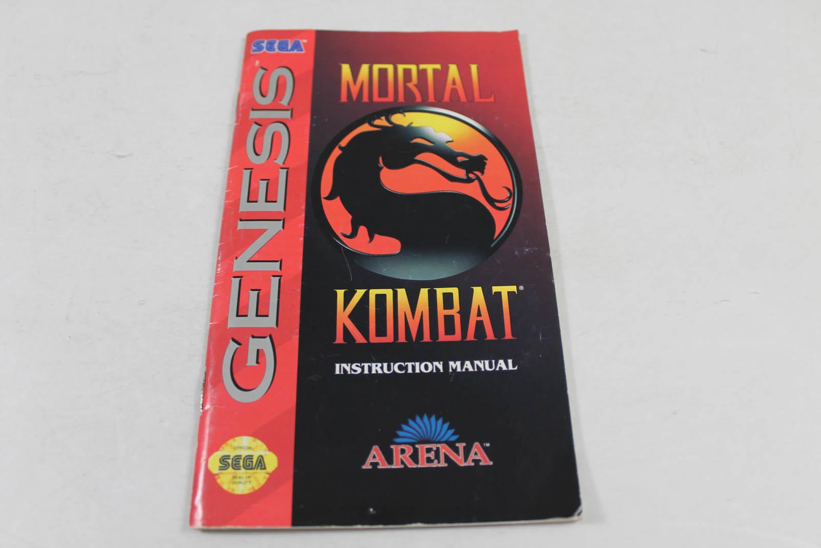 Mortal kombat 2 sega genesis manual