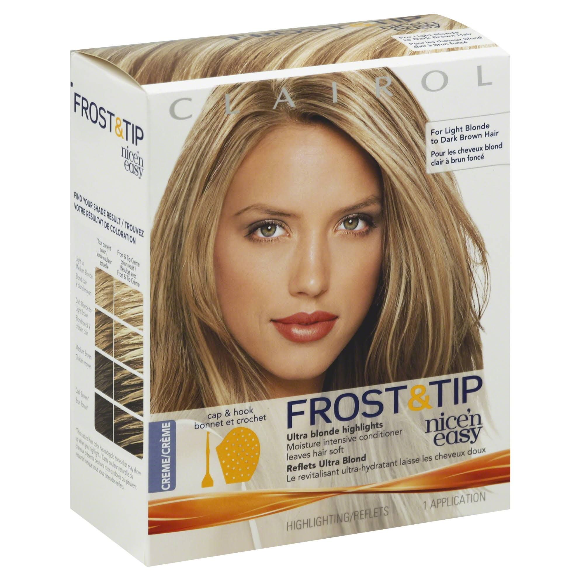 Clairol frost and tip instructions