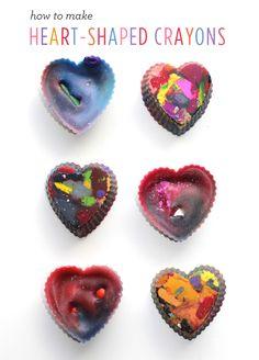 crayon art heart instructions