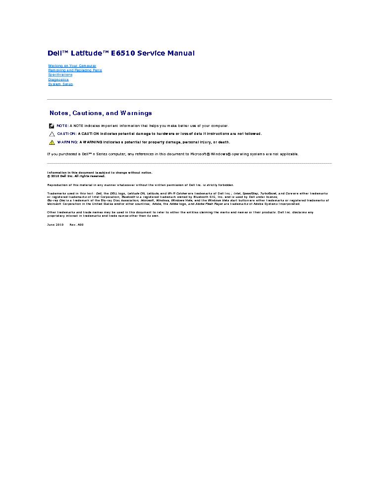 dell latitude e6510 manual pdf