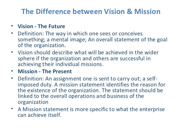 Difference between vision and mission pdf