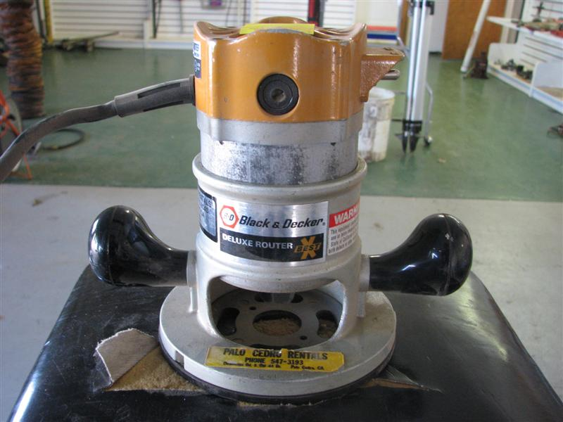 Black and decker deluxe router guide