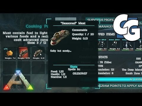 Ark how to put food in inventory