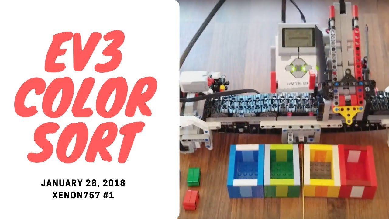 ev3 color sorter programming instructions