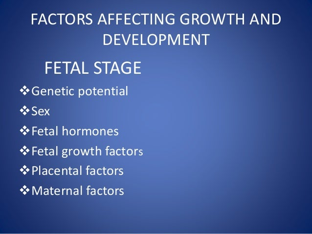 Factors affecting growth and development pdf