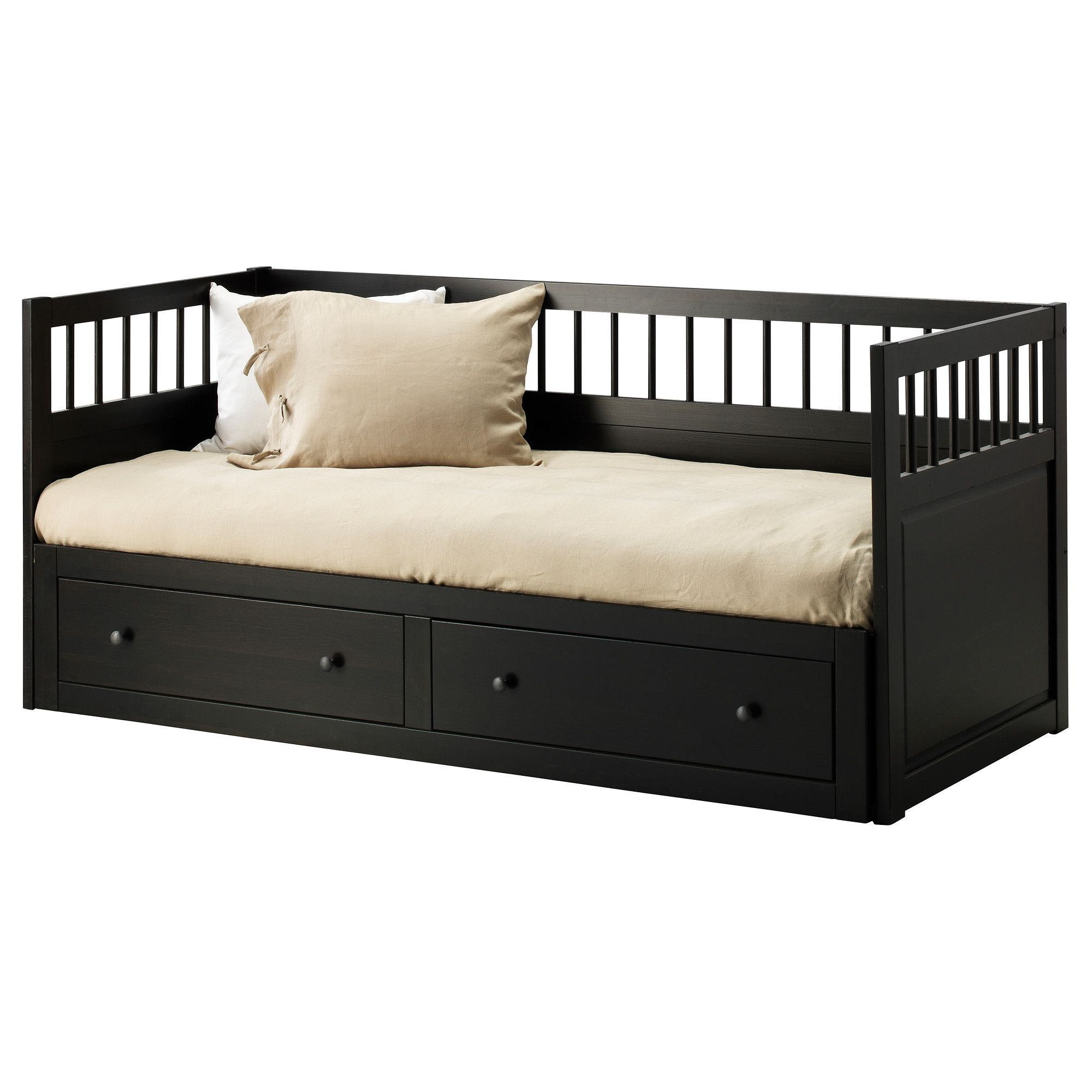 hemnes daybed frame with 2 drawers instructions