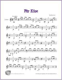 Fur elise music sheet piano pdf