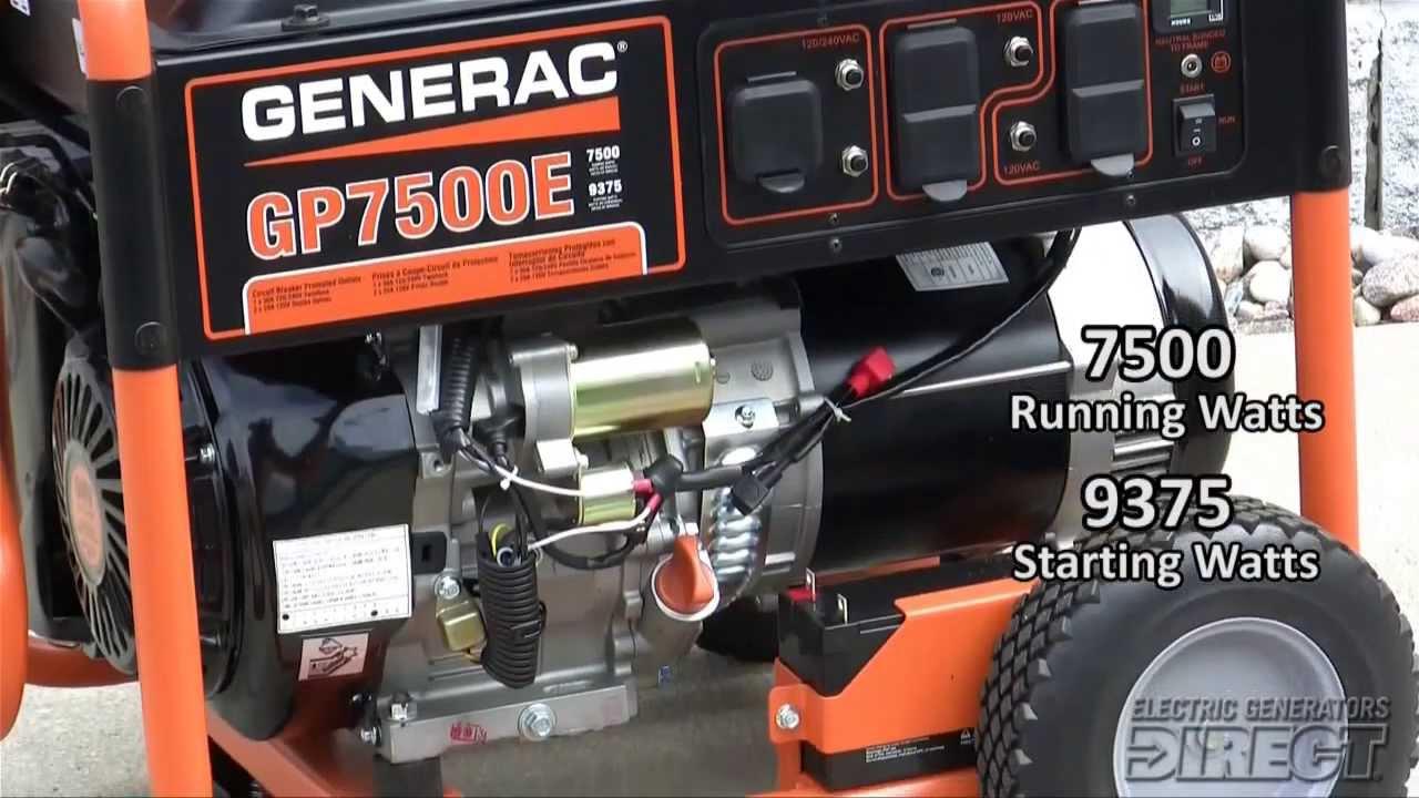 generac 7500 watt generator manual