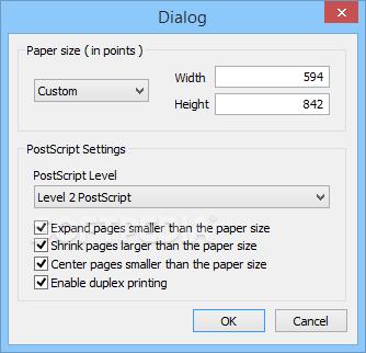 Ghostscript convert pcl to pdf