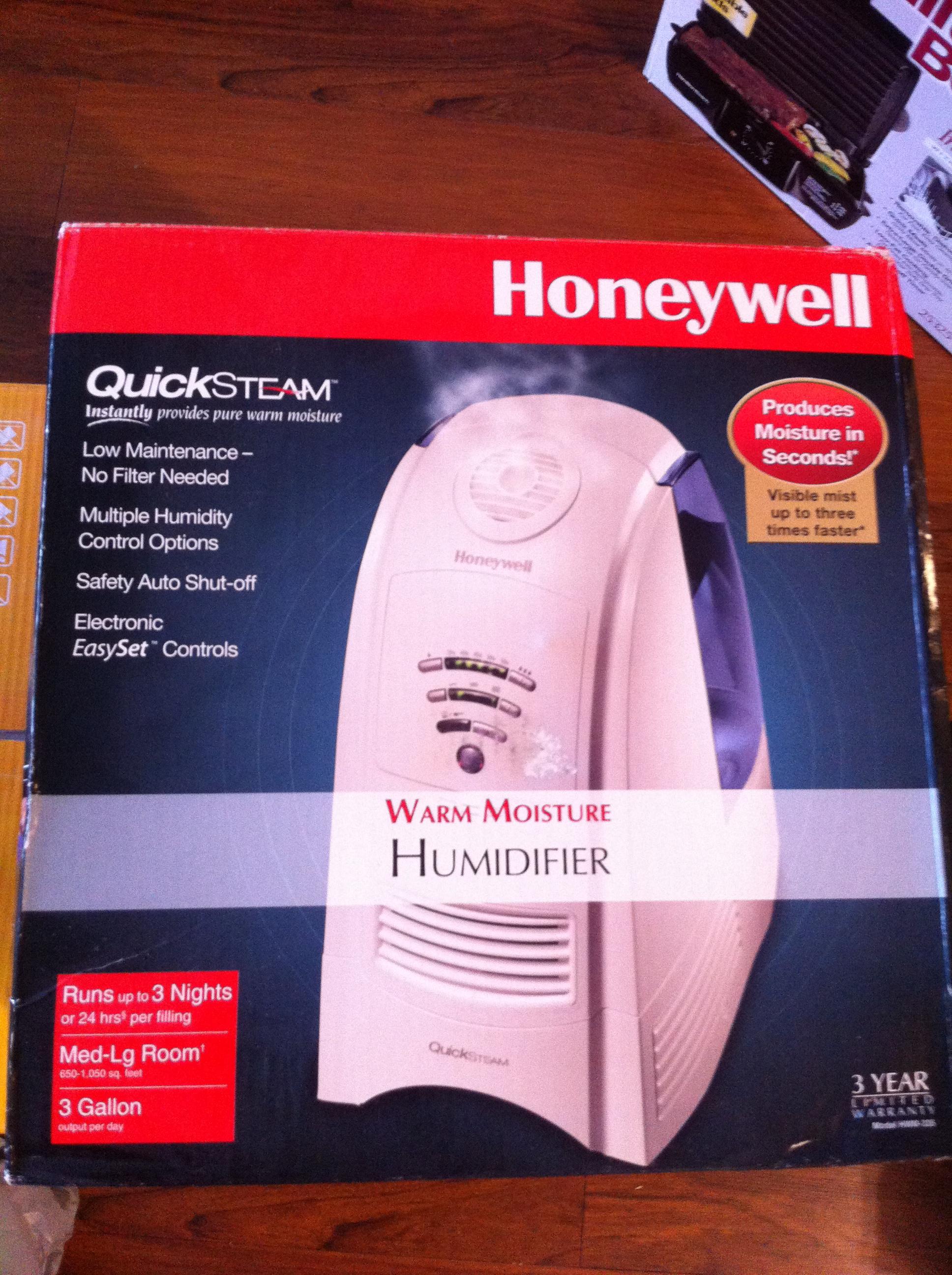 honeywell quicksteam warm moisture humidifier manual