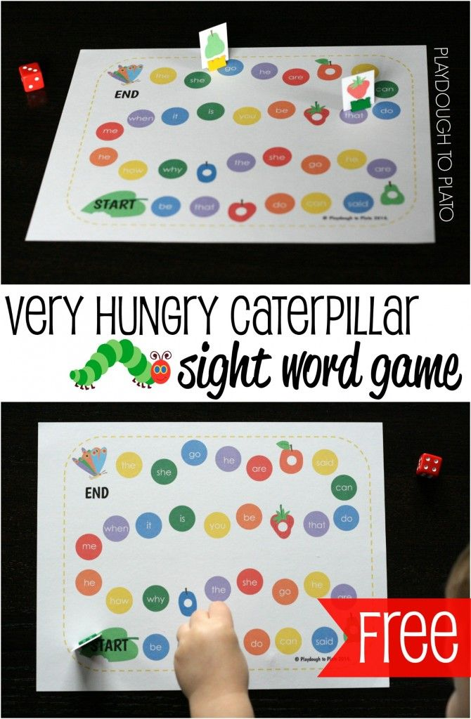hungry caterpillar game instructions