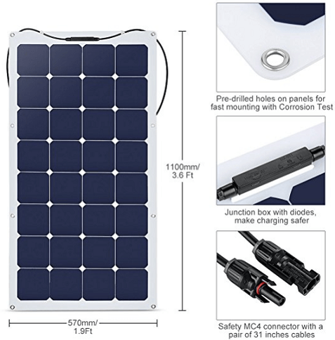 insruction manual powertech 100w solar panels