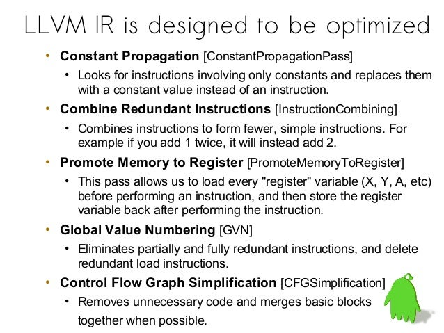 instruction as constant llvm