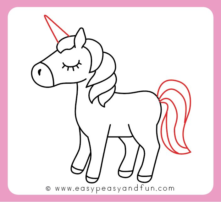 instructions how to draw a unicorn for kids