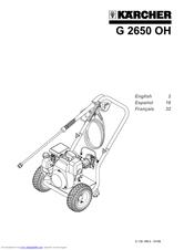 Karcher g 2650 oh manual