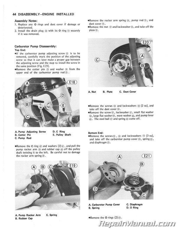 Kawasaki kl 250 workshop manual