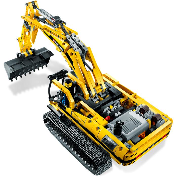 lego technic motorized excavator 8043 instructions