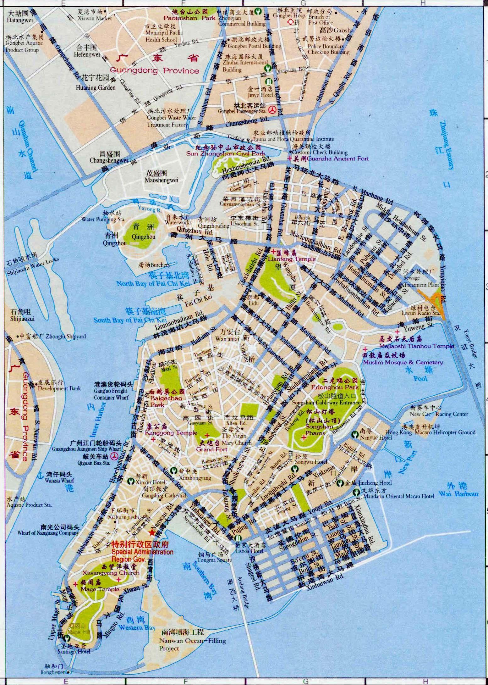 Macau tourist map 2017 pdf