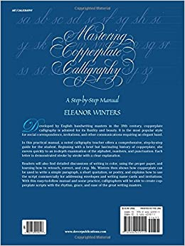 Mastering copperplate calligraphy a step-by-step manual by eleanor winters pdf