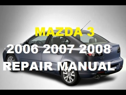 mazda 6 service manual pdf