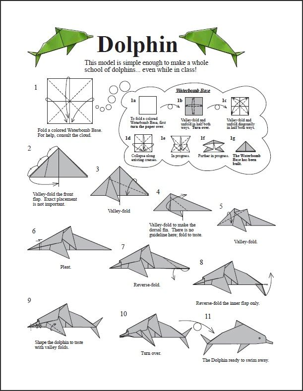 origami dolphin printable instructions
