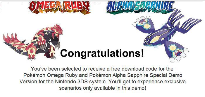 Pokemon alpha sapphire how to get free pokemon