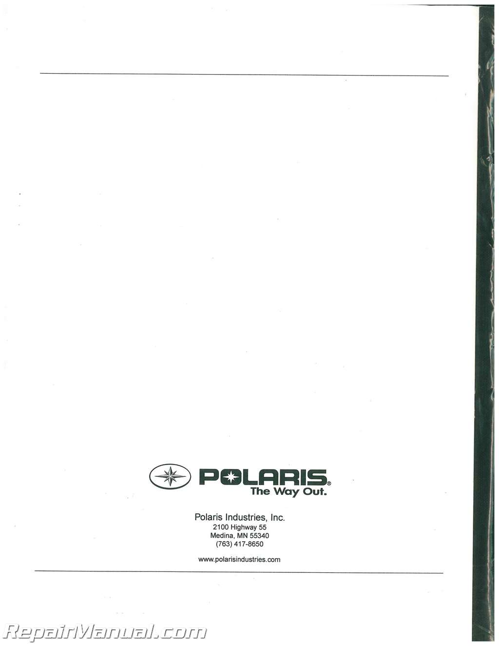 polaris ranger 500 parts manual