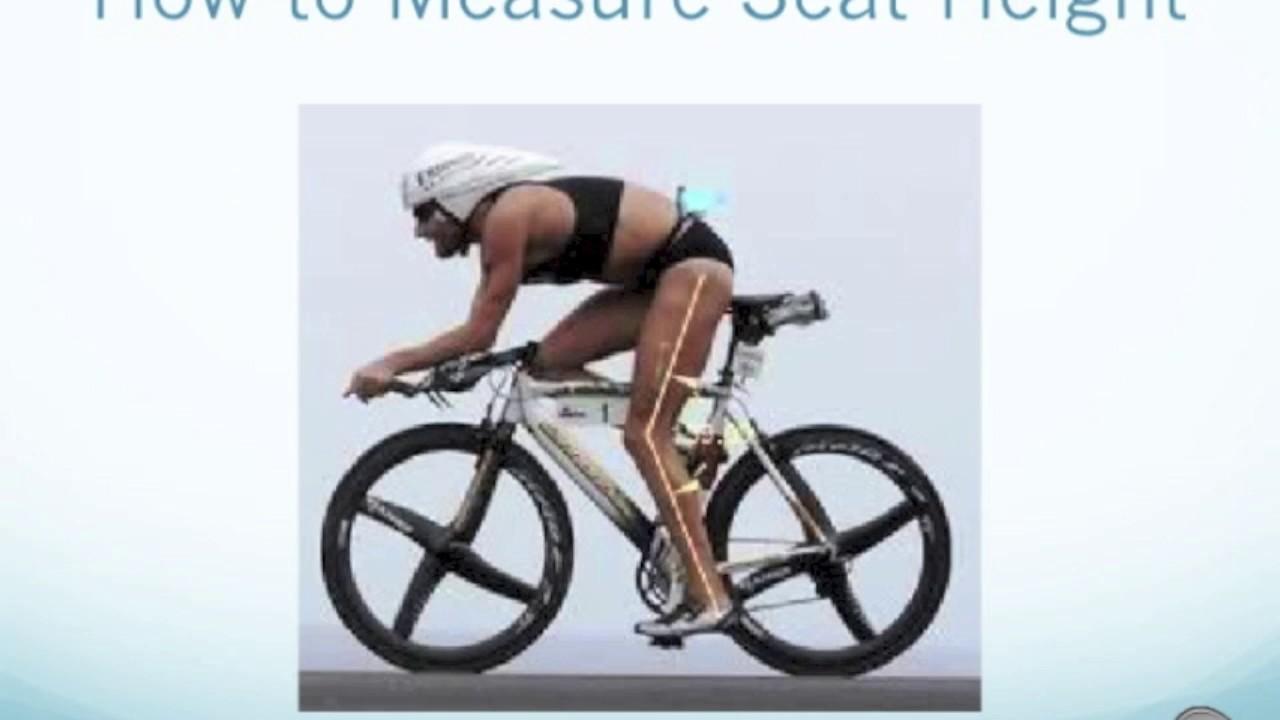 Road bike seat height guide